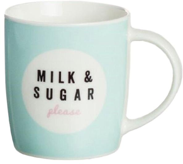 Кружка D'Casa Milk Sugar, 350 мл, бирюзовый кружка d casa chic цвет белый 350 мл