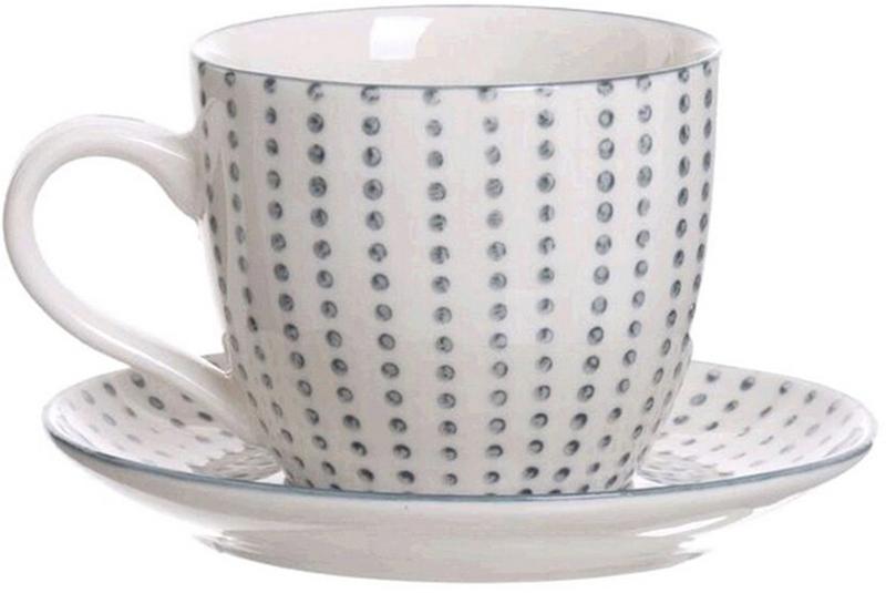 """Набор чашек для кофе D'Casa """"Topos"""", цвет: белый, 190 мл, 6 шт"""