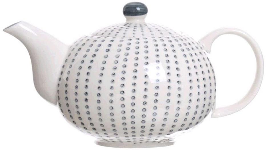 """Чайник заварочный DCasa Topos, белый285313Чайник заварочный D'Casa """"Topos"""" изготовлен из высококачественной керамики. Удобная ручка, оригинальная форма и цвет - такой чайник не только послужит для приготовления вкусного чая, но и украсит сервировку стола."""