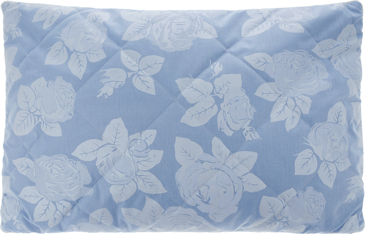 Подушка Bio-Teхtiles Очарование, наполнитель: искусственный лебяжий пух, цвет: голубой, 50 х 70 см
