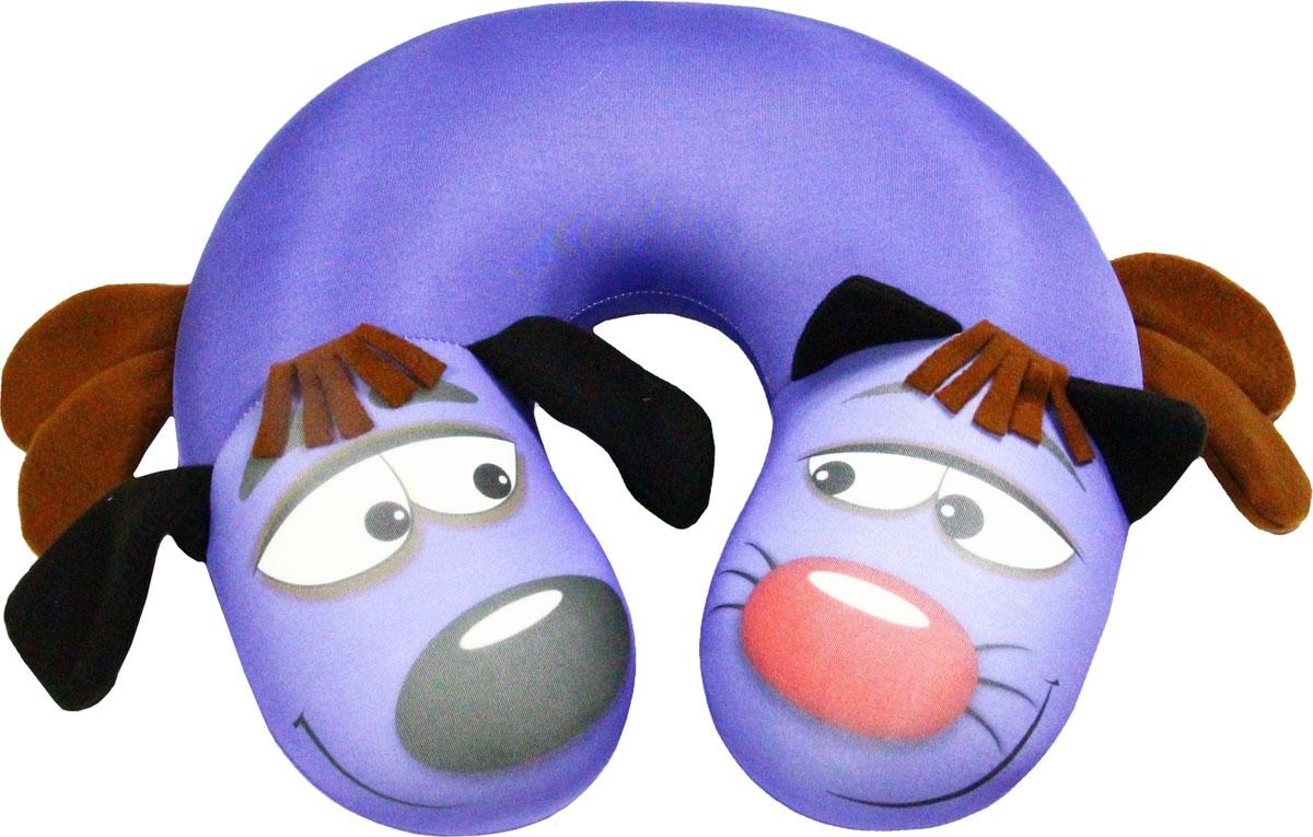 Подушка антистрессовая Штучки, к которым тянутся ручки КотоПес, цвет: фиолетовый, 35 х 33 см этажерка альтернатива ягодный микс 4 секционная цвет мятный 52 см х 30 см х 82 5 см