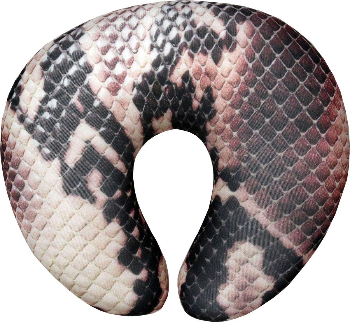 Подушка-антистресс для шеи Дикая природа. Змея, 30 х 27 см подушка антистресс для шеи армейский 30 х 27 см 16асп32ив 1