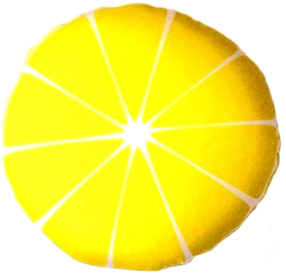 Подушка антистрессовая Штучки, к которым тянутся ручки Смайл-фрукты. Лимон, цвет: желтый, 31 x 31 см подушка антистрессовая штучки к которым тянутся ручки смайл мордочки цвет оранжевый 31 x 31 см