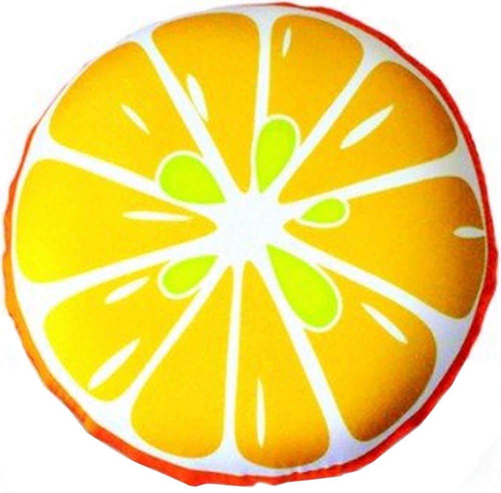 Подушка антистрессовая Штучки, к которым тянутся ручки Смайл-фрукты. Апельсин, цвет: оранжевый, 31 x 31 см подушка антистрессовая штучки к которым тянутся ручки смайл мордочки цвет оранжевый 31 x 31 см