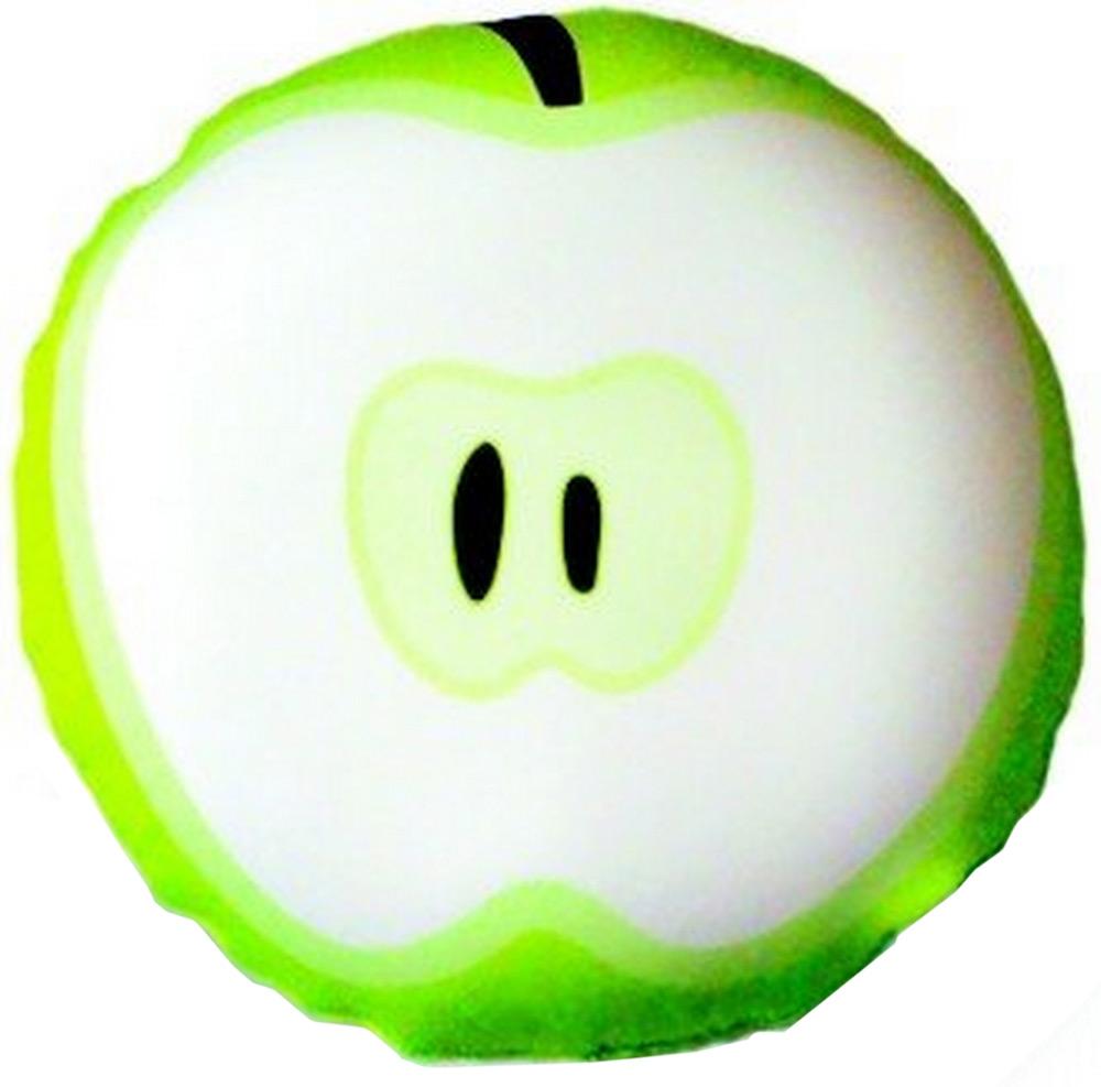 Подушка антистрессовая Штучки, к которым тянутся ручки Смайл-фрукты. Яблоко, цвет: зеленый, 31 x 31 см подушка антистрессовая штучки к которым тянутся ручки смайл мордочки цвет оранжевый 31 x 31 см