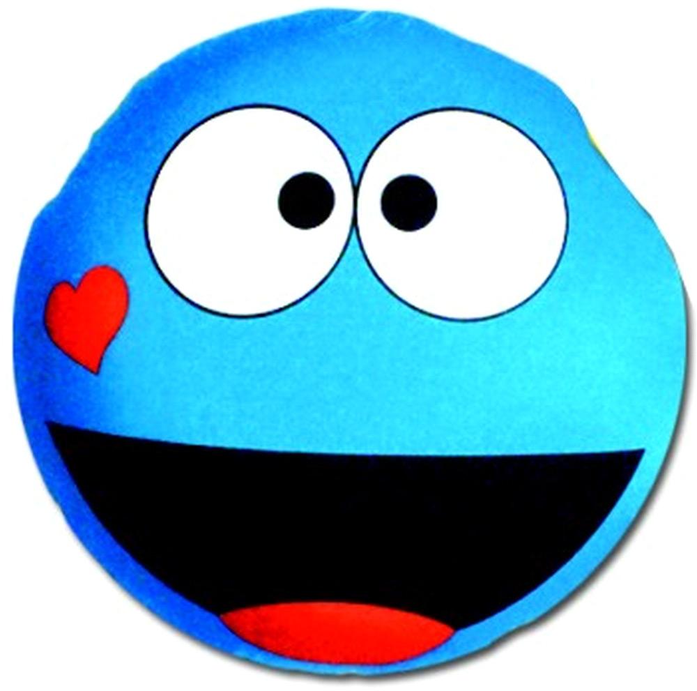 Подушка антистрессовая Штучки, к которым тянутся ручки Смайл-мордочки, цвет: голубой, 31 x 31 см подушка антистрессовая штучки к которым тянутся ручки смайл мордочки цвет оранжевый 31 x 31 см