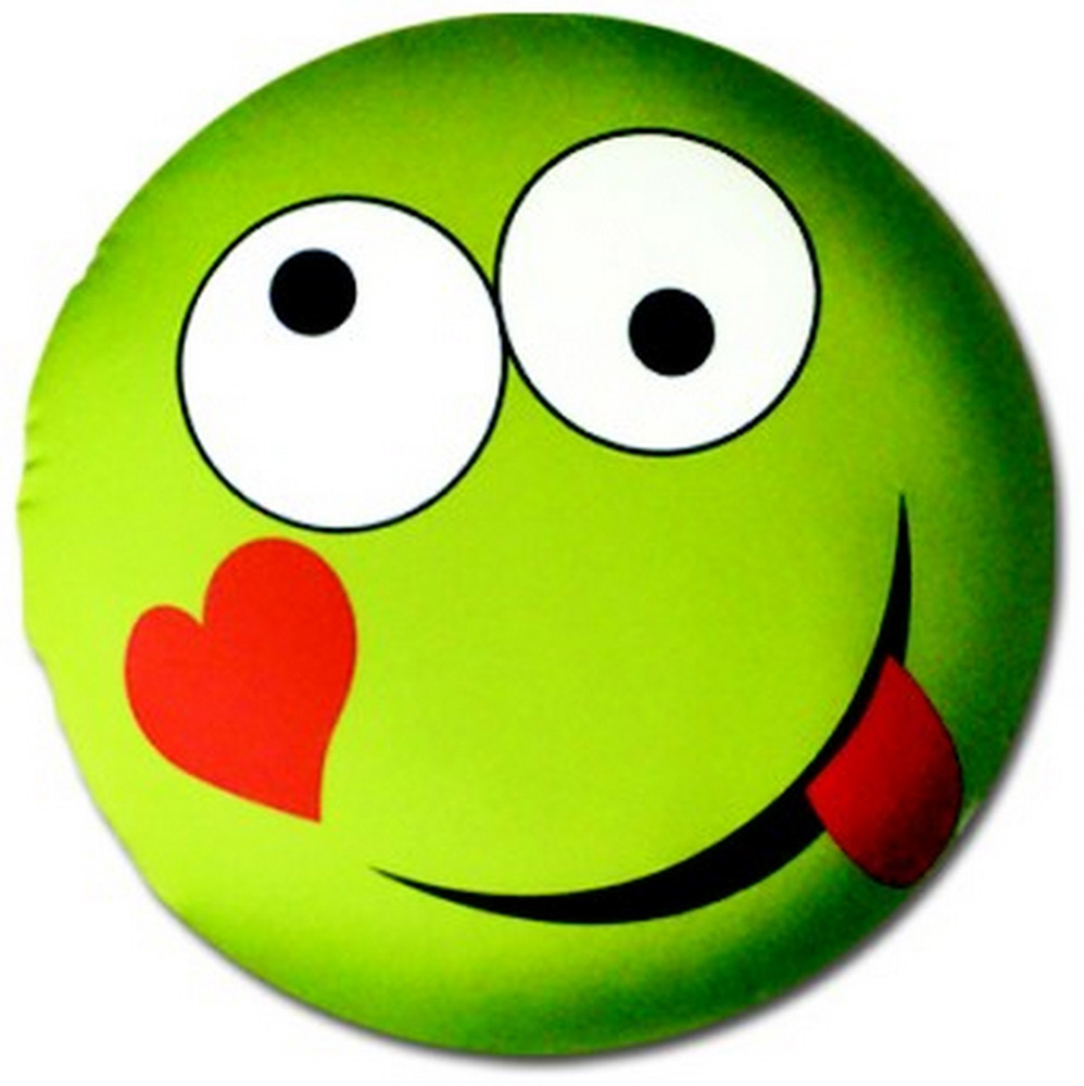 Подушка антистрессовая Штучки, к которым тянутся ручки Смайл-мордочки, цвет: зеленый, 31 x 31 см подушка антистрессовая штучки к которым тянутся ручки смайл мордочки цвет оранжевый 31 x 31 см