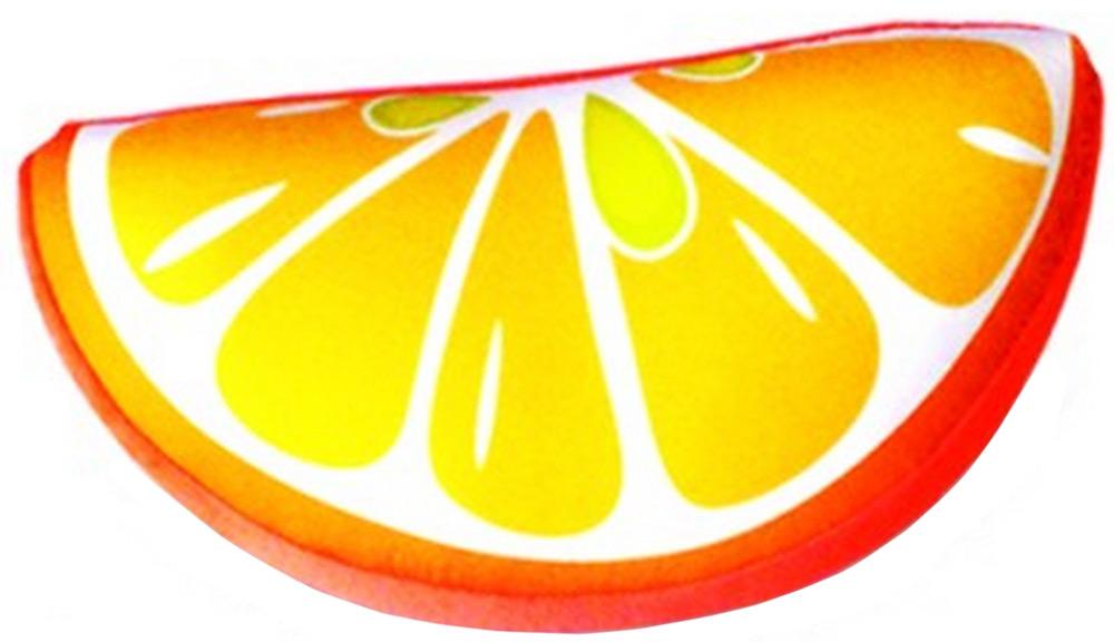 Подушка-игрушка антистресс долька Фрукты, желтый, оранжевый