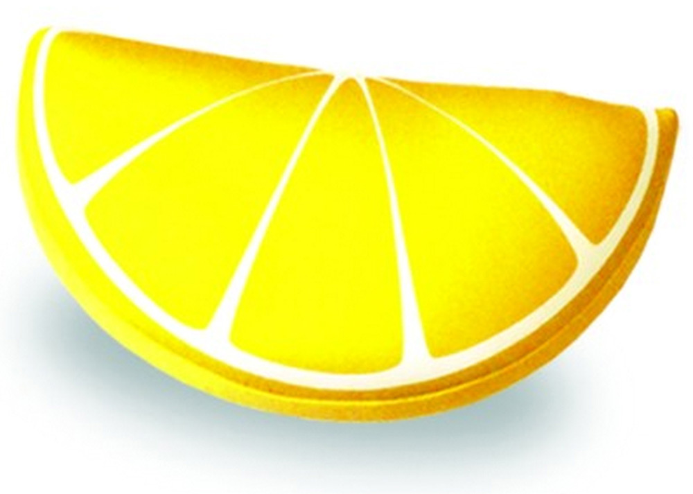 Подушка-игрушка антистресс долька Фрукты, желтый