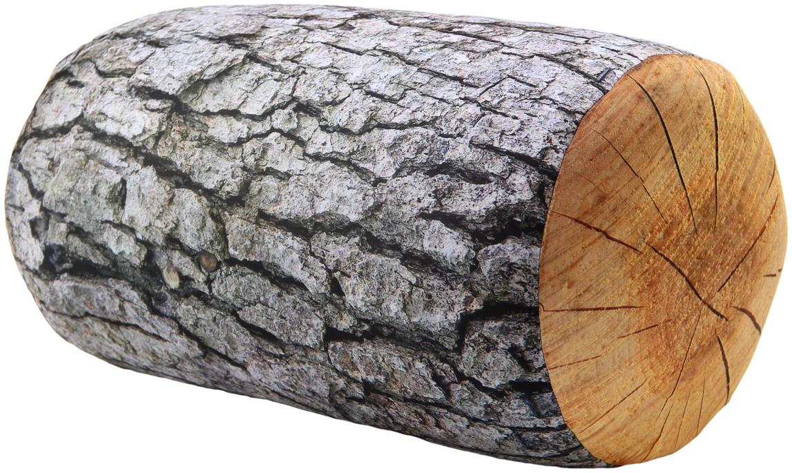 Подушка-валик антистрессовая Штучки, к которым тянутся ручки Поленья, цвет: серый, 37 x 21 см подушка валик антистрессовая штучки к которым тянутся ручки кот полосатый цвет малиновый 38 x 18 см