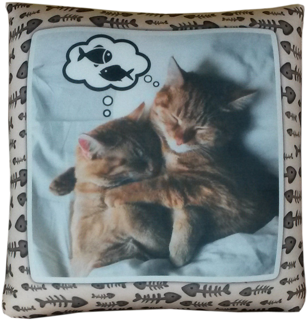 Подушка декоративная Антистрессовая Коты обнимашки антистрессовая подушка подкова 30 30