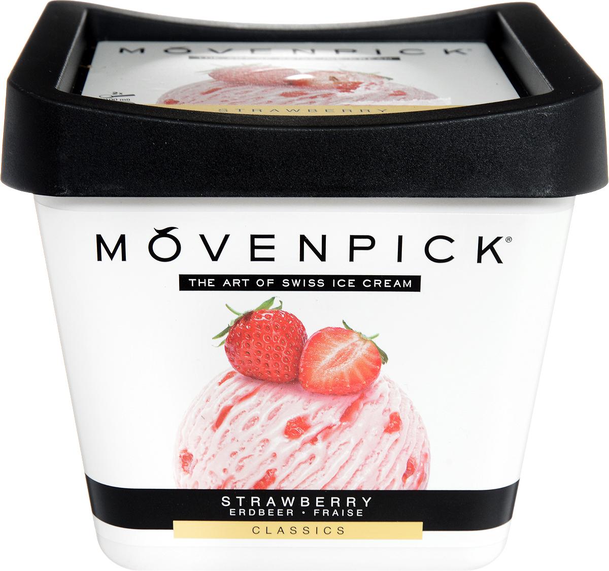 Movenpick Мороженое Клубничное, 900 мл пудовъ мороженое домашнее клубничное 70 г