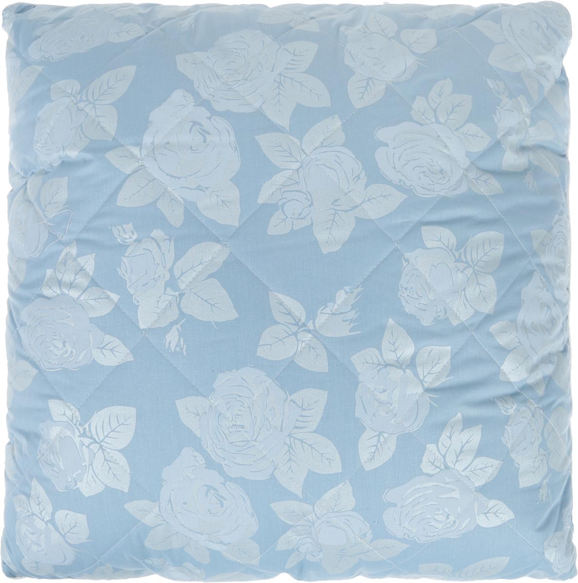 Подушка Bio-Teхtiles Очарование, наполнитель: искусственный лебяжий пух, цвет: голубой, 70 х 70 см