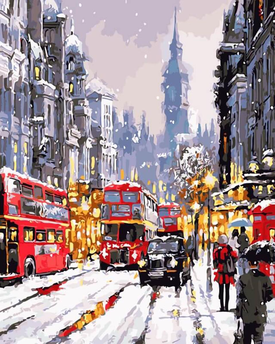 Набор для рисования по номерам Цветной Зимний лондон, 40 х 50 см