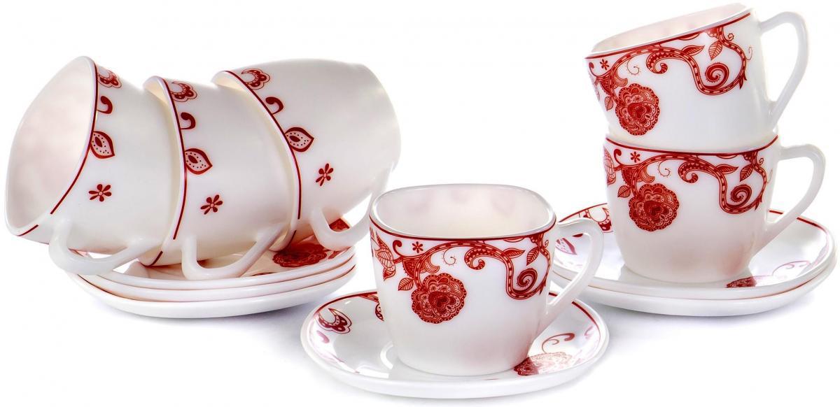 Набор чайный Olaff Красные цветы, 12 предметов набор чайный olaff красный стебель 12 предметов