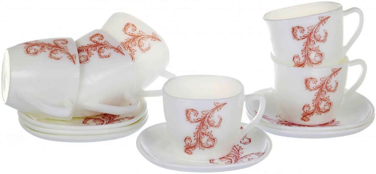 Набор чайный Olaff Красный стебель, 12 предметов набор чайный olaff красный стебель 12 предметов