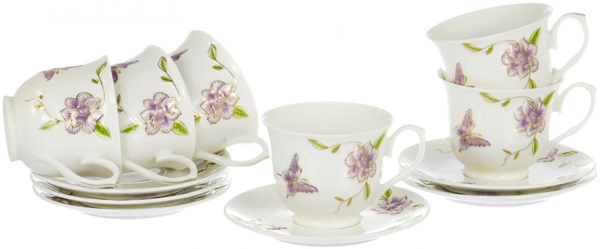 Набор чайный Olaff Цветы, 12 предметов набор столовой посуды olaff красные цветы 19 предметов