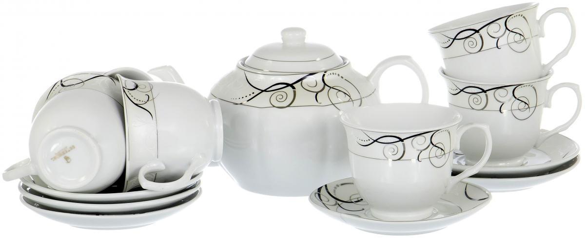 Набор чайный Olaff Rectangular Gift Box, 13 предметов. SCS-13QWB-015 футболка шесть шесть шесть
