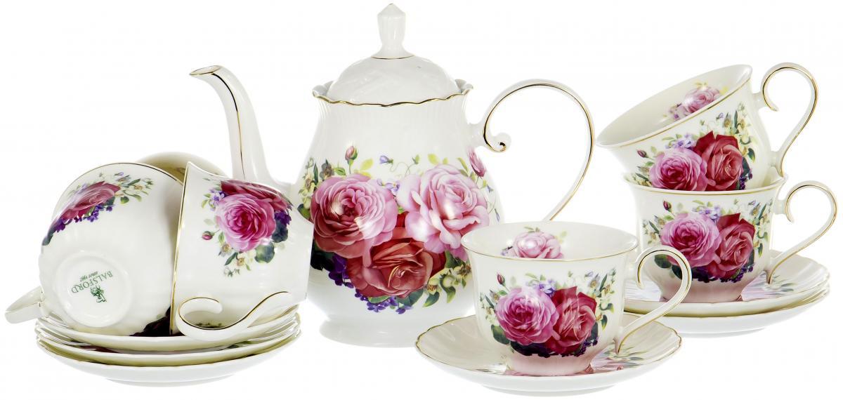 Набор чайный Olaff Розы, 13 предметов. XX-13Y-BLW-C4792 набор чайный olaff красный стебель 12 предметов