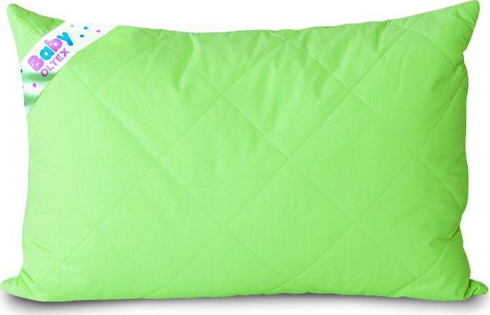 baby nice подушка детская стеганая 40 см х 60 см OL-Tex Подушка классическая детская Baby цвет зеленый 40 х 60 см