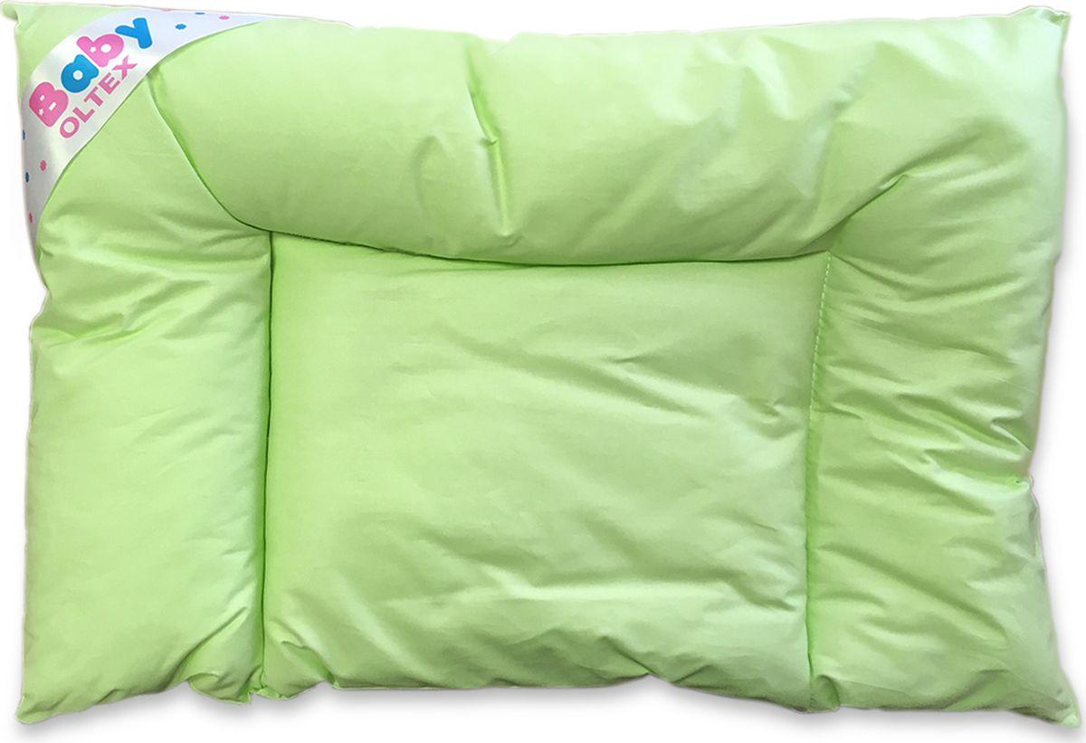 OL-Tex Подушка анатомическая детская Baby цвет зеленый 40 х 60 см детская подушка visco mind saponetta baby