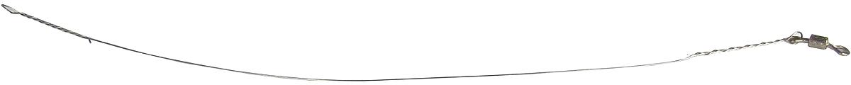 """Поводок """"Точка Лова"""", стальной, с вертлюгом, 6 шт. СТРУНА-16-10"""