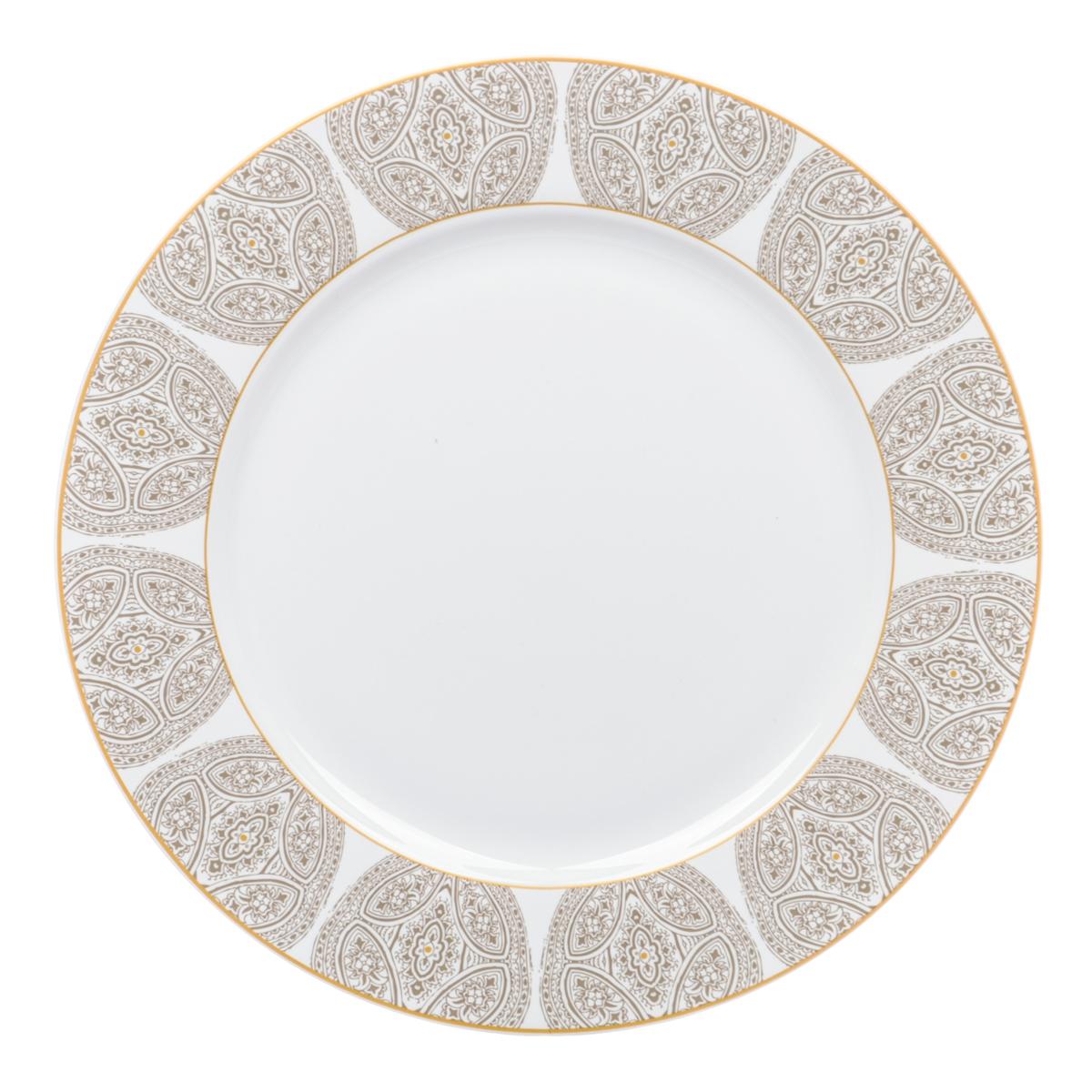 """Тарелка десертная Dasen """"Бежевая классика"""", диаметр 23 см"""