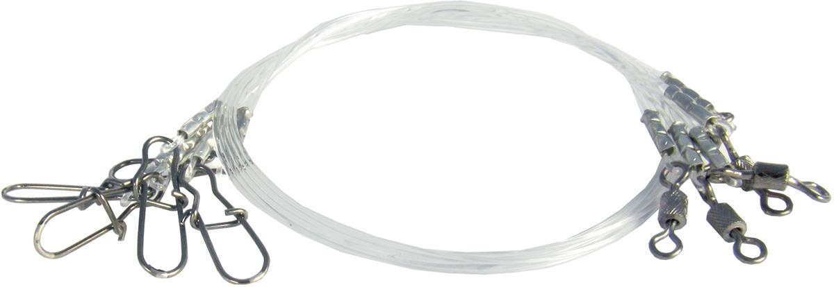Поводок Точка Лова, флюорокарбоновый, 5 шт. ПФ-9-15ТЛ поводок рыболовный afw titanium длина 15 см 9 кг 2 шт