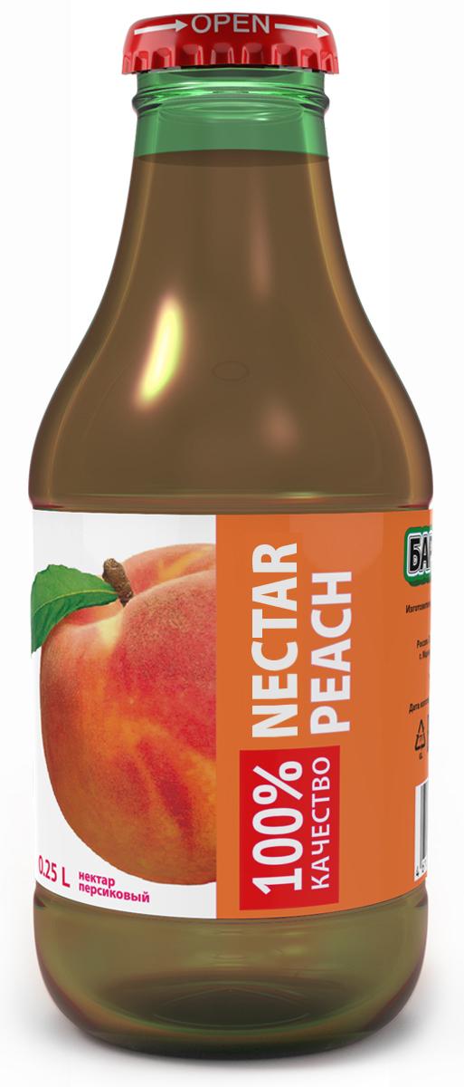 Barinoff Нектар Персиковый, 0,25 л менк персиковый нектар 1 л