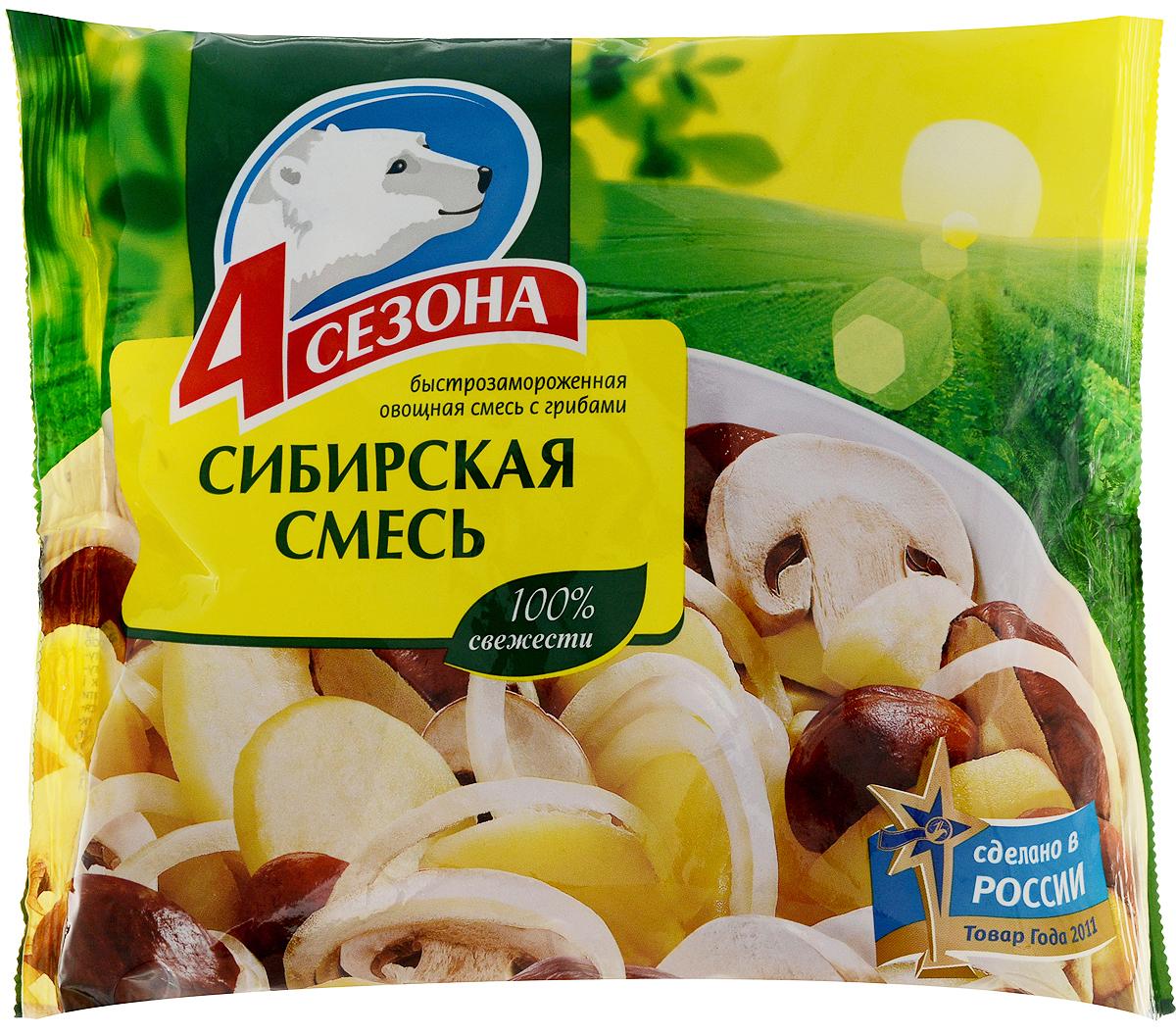 Фото - 4 Сезона Сибирская смесь, 400 г 4 сезона грибы с картошкой 400 г