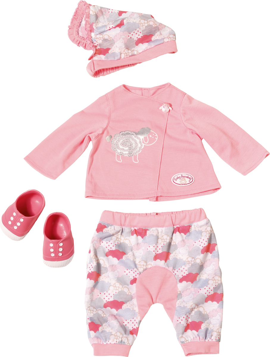 Zapf Creation Одежда для куклы Baby Annabell для уютного вечера цена и фото