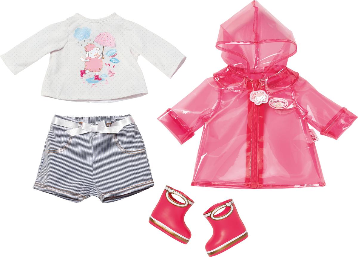Zapf Creation Одежда для куклы Baby Annabell для дождливой погоды zapf creation my first baby annabell одежда для куклы 36 см шапочка розовая футболка голубые штанишки 794 371