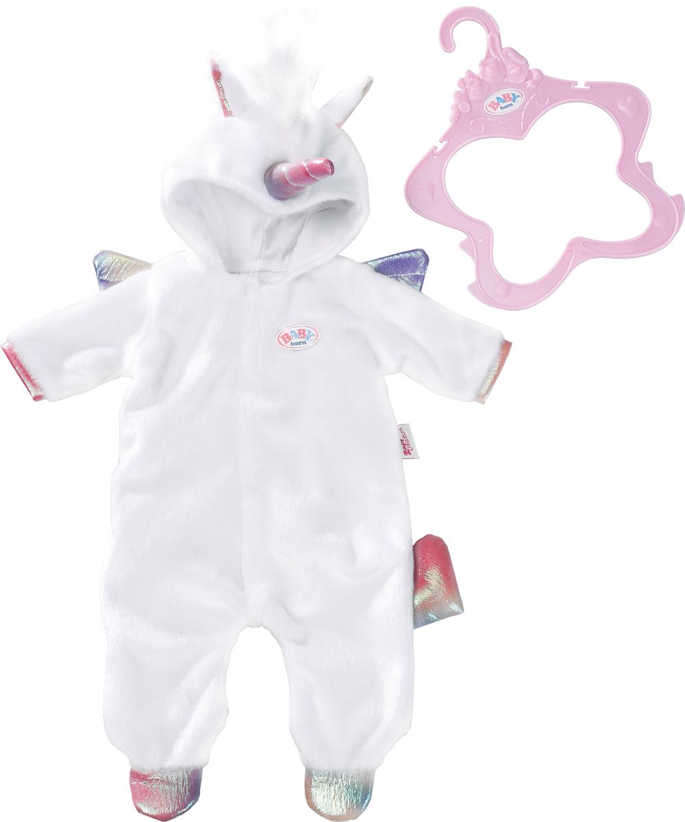 Zapf Creation Одежда для куклы BABY born Теплый комбинезончик Единорог