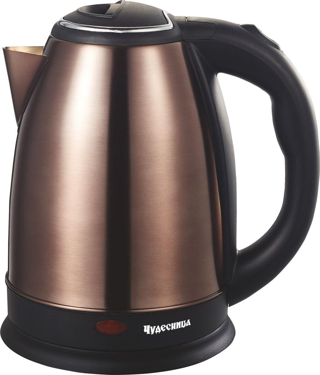 лучшая цена Электрический чайник Чудесница ЭЧ-2010, Bronze