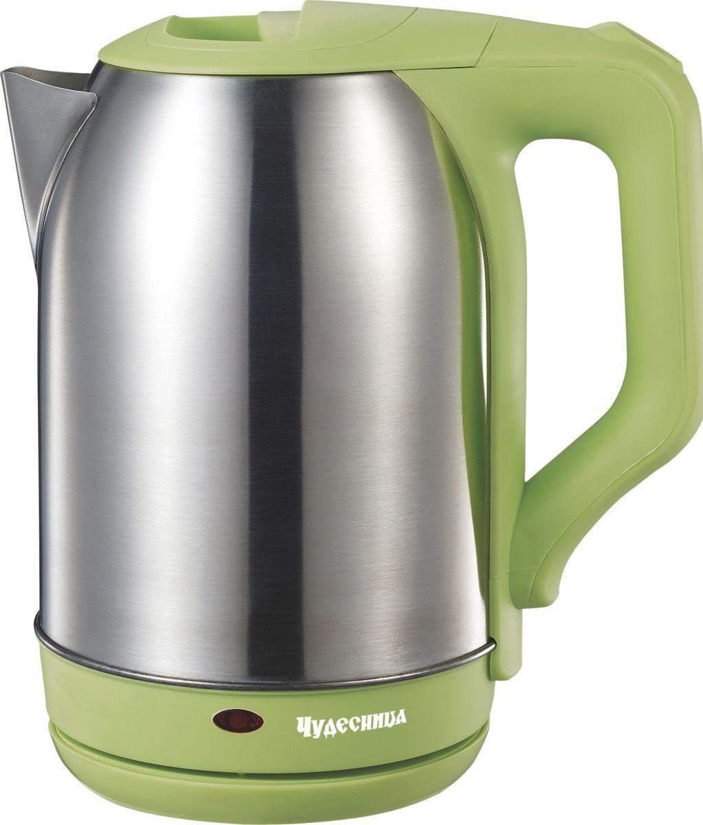Чудесница ЭЧ-2021, Green чайник электрический чайник чудесница эч 2004 brown