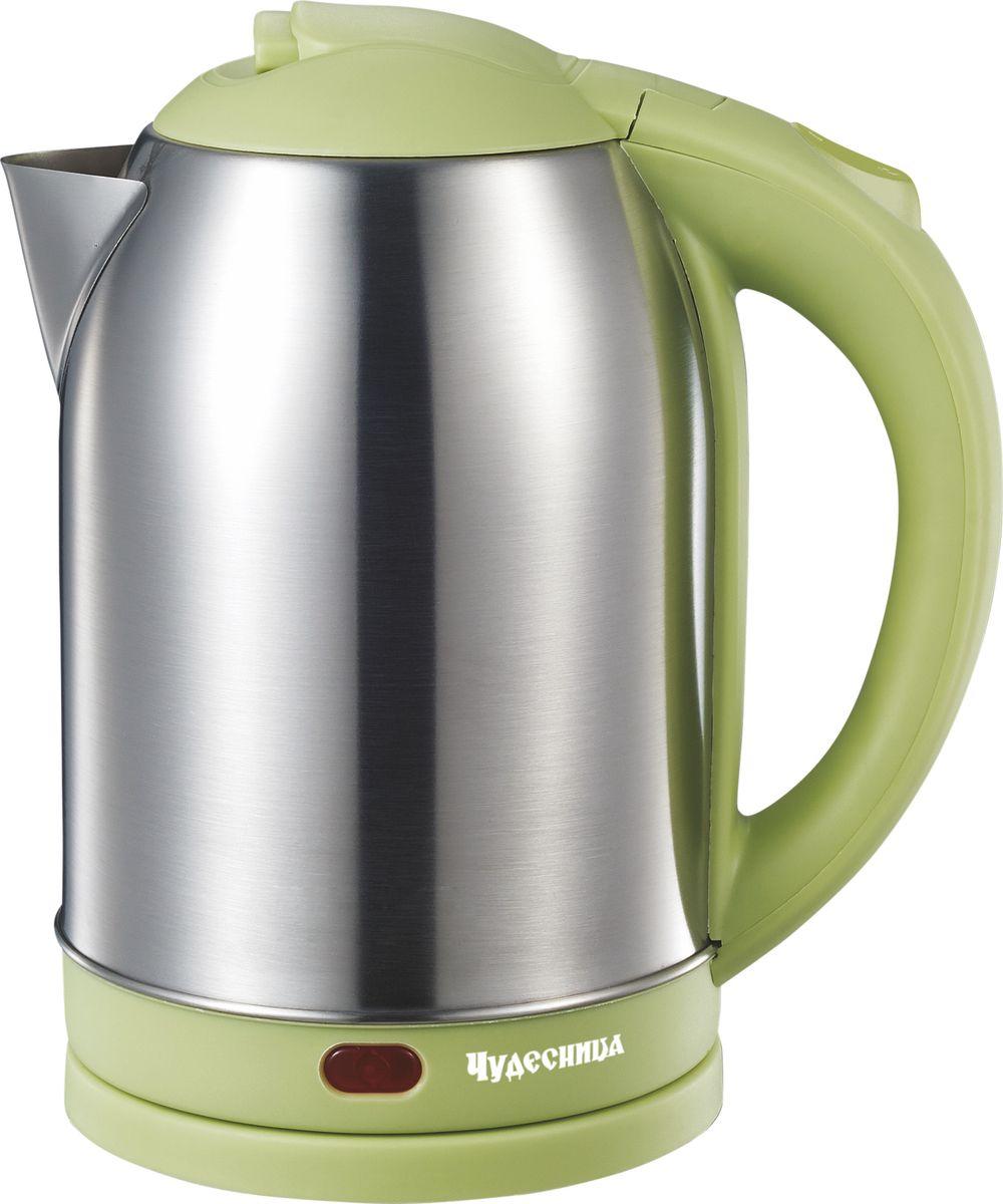 Электрический чайник Чудесница ЭЧ-2030, Green чайник чудесница эч 2004 brown