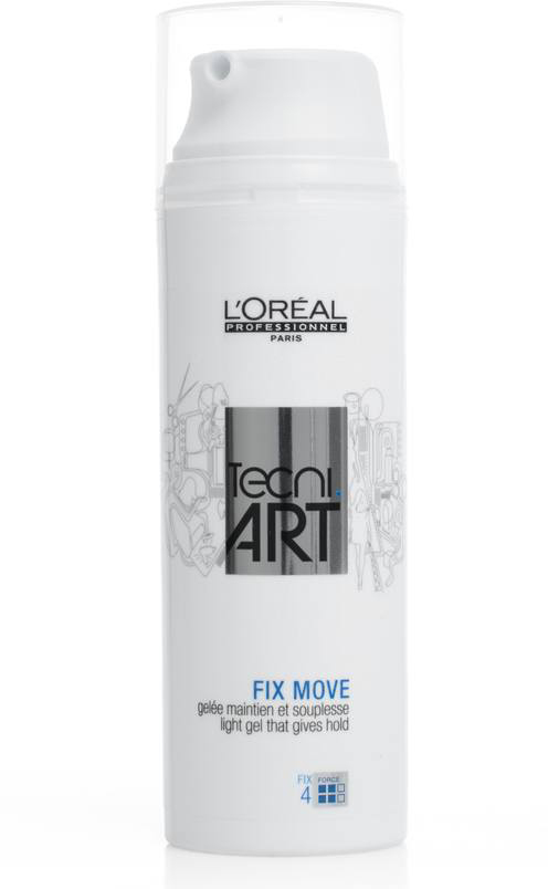 LOreal Professionnel Желе для фиксации с легкой текстурой Tecni Art Fix Move, (фикс. 4 ) 150 млE2098100Гель обеспечивает надежную фиксацию укладки, сохраняя ее подвижность. Легко распределяется по волосам, не оставляя налета после высыхания. Пряди остаются эластичными, легкими, не склеиваются, приобретают здоровый и красивый вид. Благодаря сверхлегкой консистенции гель Фикс Мув моментально впитывается. Укладка остается безупречной даже при высокой влажности. Средство бережет пряди от пересыхания, наполняет волосы влагой, предотвращает повреждения от негативных внешних факторов. Волосы выглядят идеально, не теряют своей формы и ослепительно сияют.