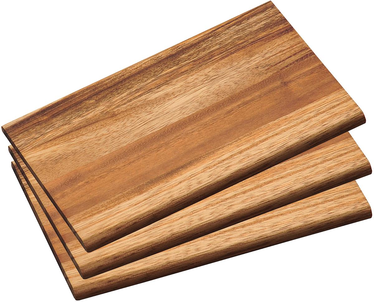 Набор разделочных досок Kesper, цвет: коричневый, 3 шт