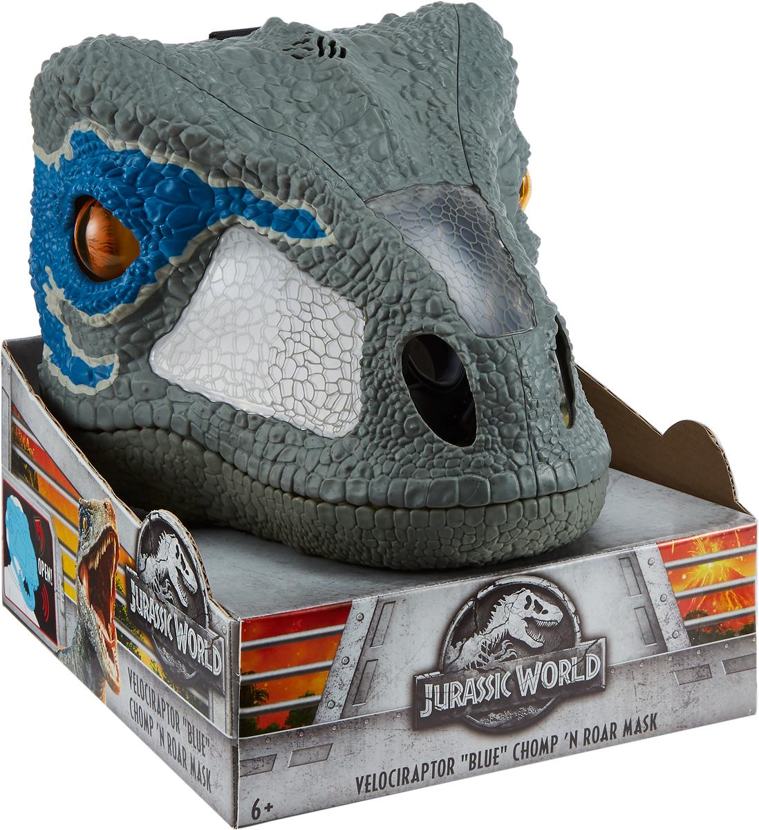 Интерактивная игрушка Jurassic World Рычащая супер маска, FMB74 imaginext интерактивная игрушка jurassic world гигантский роботизированнй динозавр