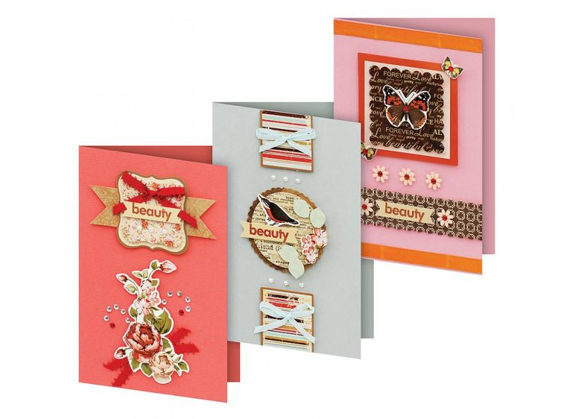 Набор для создания открыток Белоснежка Фантазия, 3 шт набор для создания открыток белоснежка атласные ленты 3 шт
