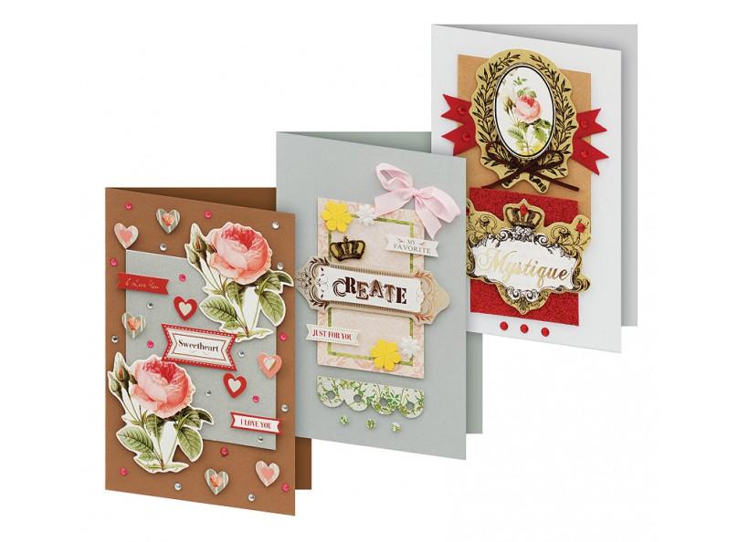 Набор для создания открыток Белоснежка Каприз, 3 шт набор для создания открыток белоснежка грация 4 шт