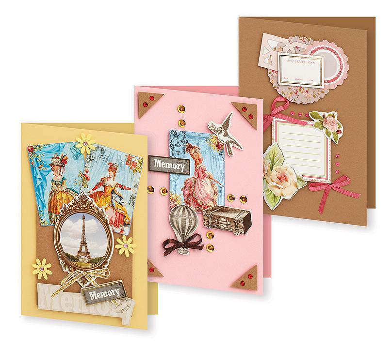 Набор для создания открыток Белоснежка Большое путешествие, 3 шт набор для создания открыток белоснежка атласные ленты 3 шт