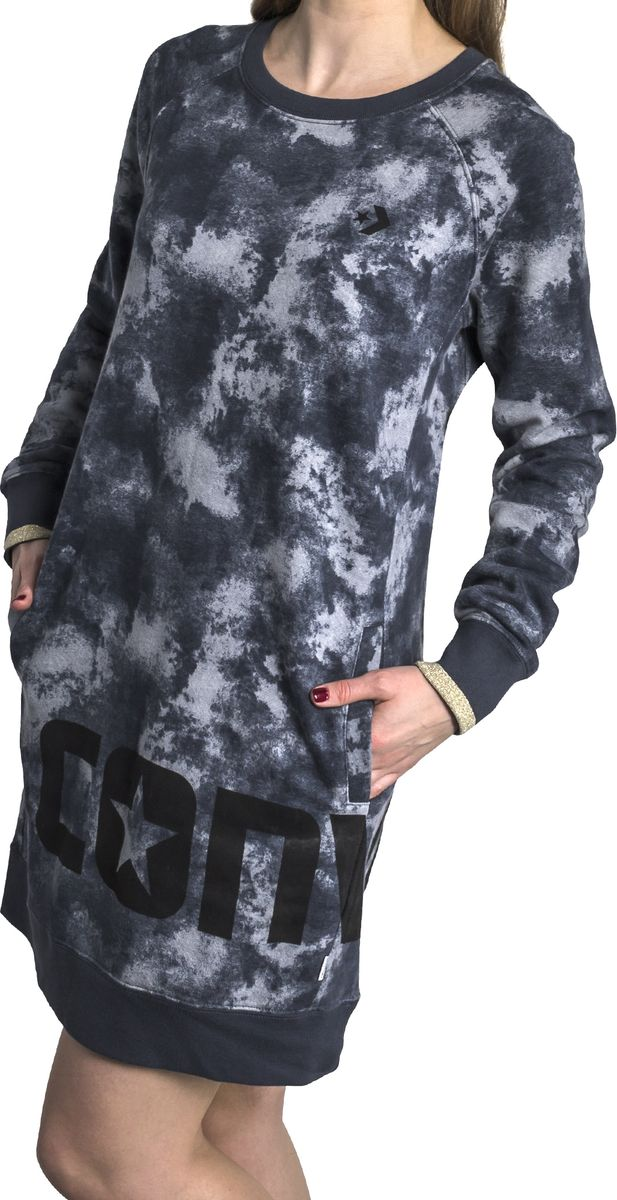Платье Converse Smoke Print Long Sleeve Dress men smoke print tee