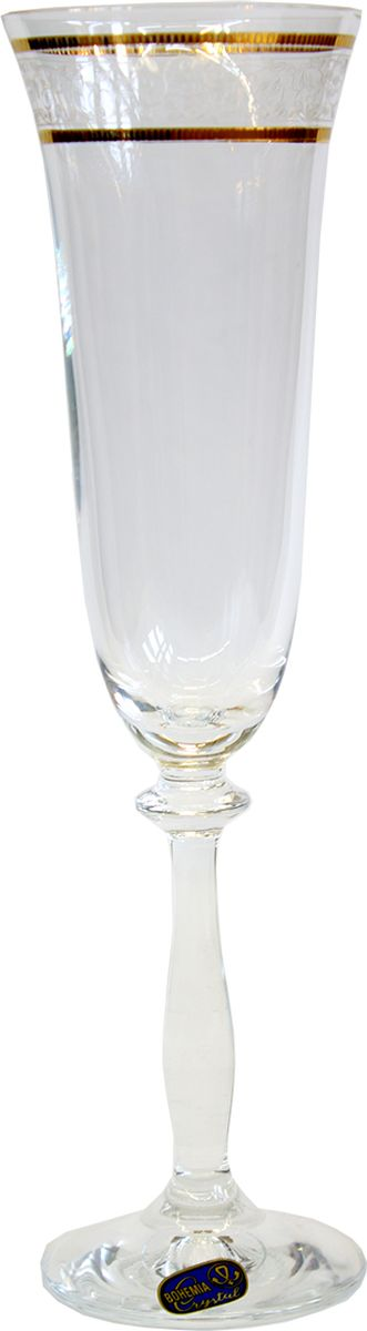 Набор бокалов для шампанского Bohemia Crystal Анжела, 190 мл, 6 шт набор бокалов для шампанского bohemia crystal оливия 190 мл 6 шт