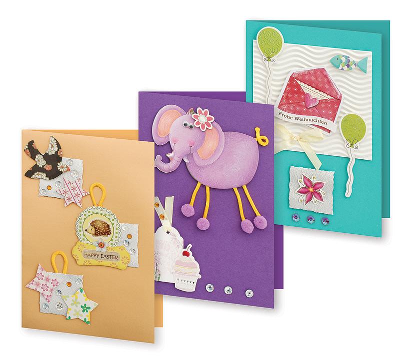 Набор для создания открыток Белоснежка Веселая фантазия, 3 шт набор для создания открыток белоснежка атласные ленты 3 шт