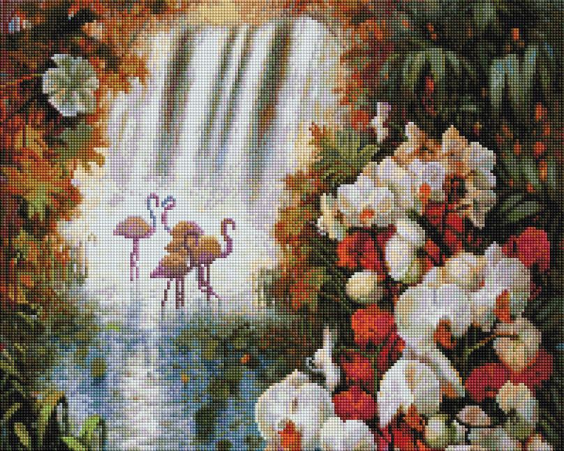 Алмазная мозаика Белоснежка Райский сад, 40 х 50 см набор для творчества алмазная мозаика храм василия блаженного 40 х 50 см