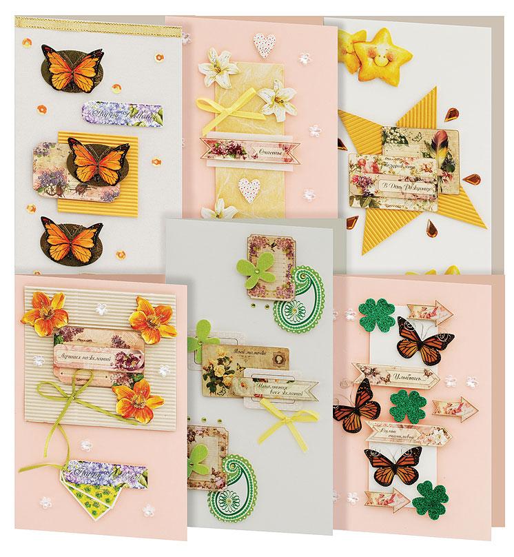 Набор для создания открыток Белоснежка Поэзия, 6 шт набор для создания открыток белоснежка атласные ленты 3 шт