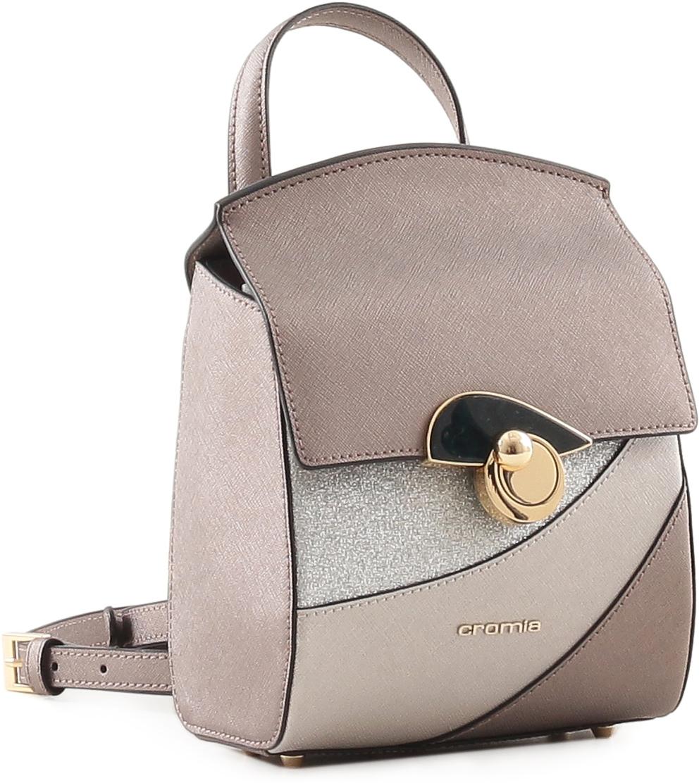 d051388e6064 Рюкзак женский Cromia, цвет: серо-коричневый. 679 — купить в  интернет-магазине OZON.ru с быстрой доставкой
