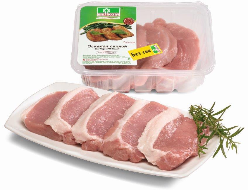 Велком Эскалоп свиной натуральный, 0,5 кг Велком