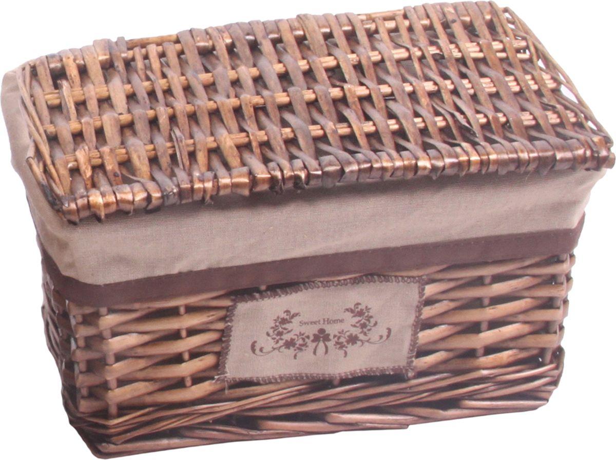 Корзина стеллажная Natural House Орех, прямоугольная, цвет: коричневый, 30 х 20 х 18 см корзина быстросъёмная плетеная белая wg 20